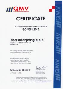 ISO 9001:2015 Laser Ing